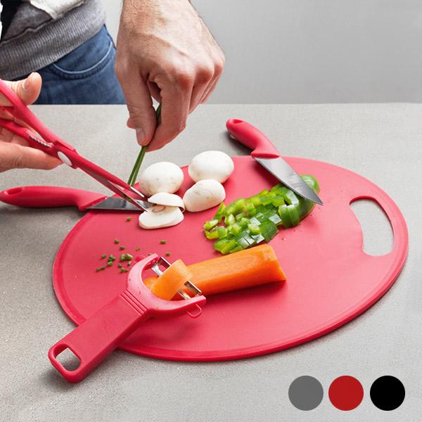 Tabla de Cortar con Accesorios Bravissima Kitchen (5 piezas)