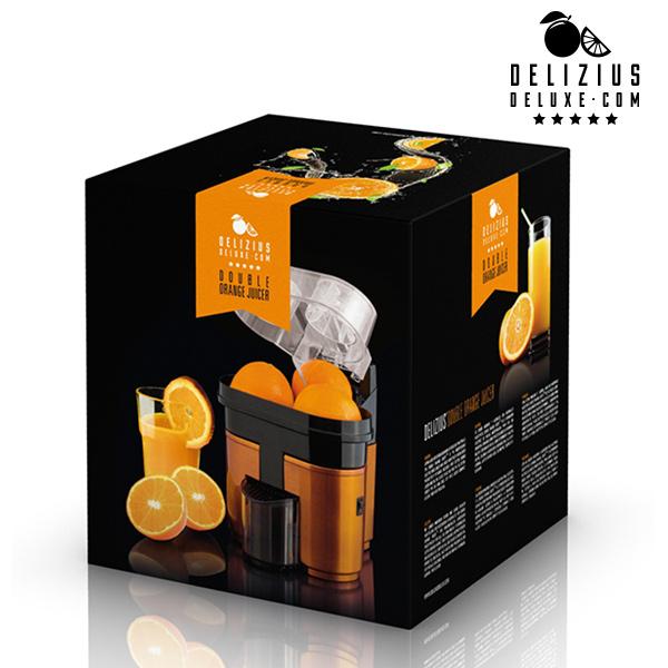 Exprimidor Eléctrico Delizius Deluxe Double Orange Juicer 0,5 L 90W Naranja Negro (4)