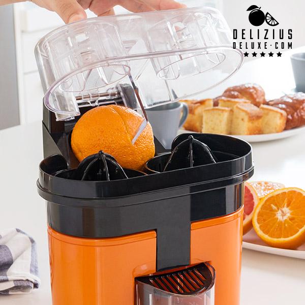 Exprimidor Eléctrico Delizius Deluxe Double Orange Juicer 0,5 L 90W Naranja Negro (3)