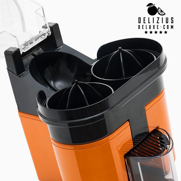 Exprimidor Eléctrico Delizius Deluxe Double Orange Juicer 0,5 L 90W Naranja Negro (2)