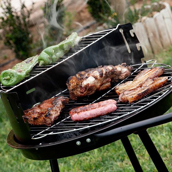 Barbacoa de Carbón con Doble Nivel BBQ Classics (1)