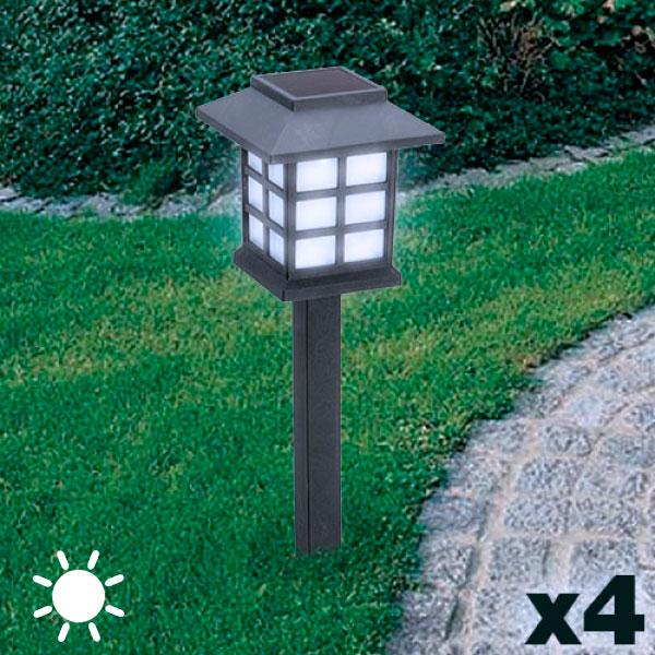 Lámpara Solar Jardín Adventure Goods (pack de 4)