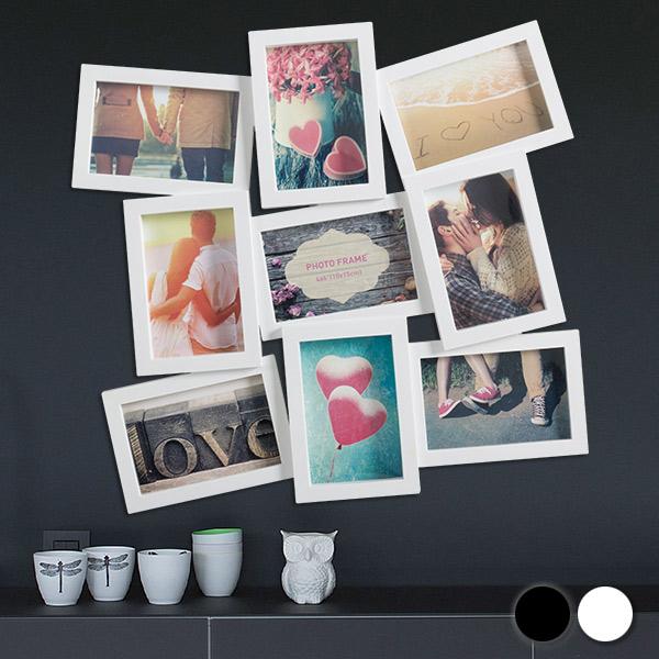 3 x 3 Okvir za Fotografije (9 Fotografij) - Bela