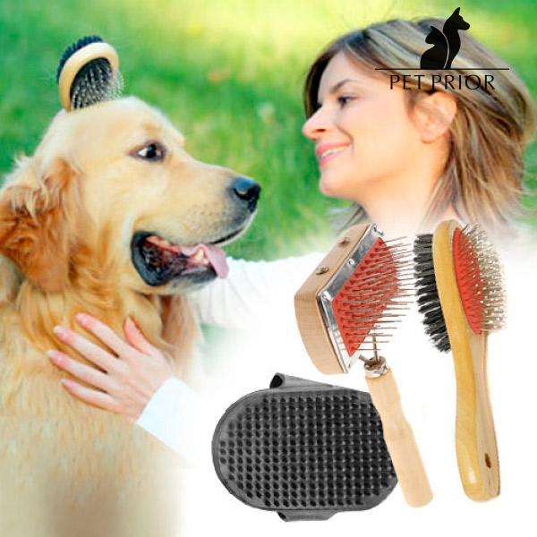 Set de Cepillos para Perros Pet Prior (3 piezas)