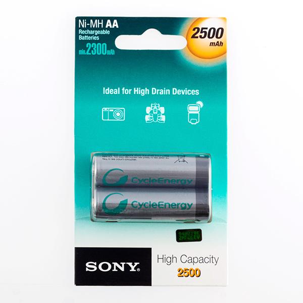 Pilas Recargables Sony Ni-MH AA 2500 mA 1,2V (pack de 2)