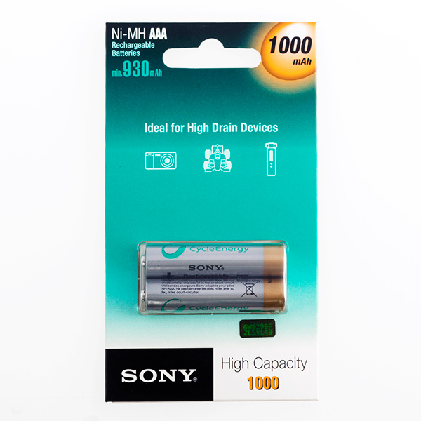 Pilas Recargables Sony Ni-MH AAA 1000 mA 1,2V (pack de 2)