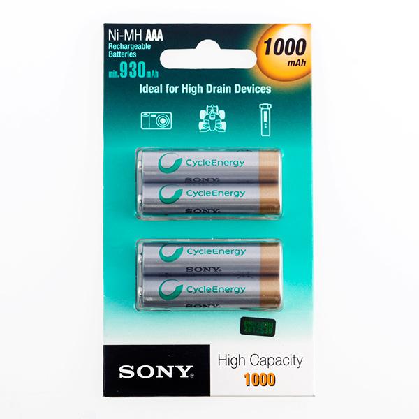 Pilas Recargables Sony Ni-MH AAA 1000 mA 1,2V (pack de 4)