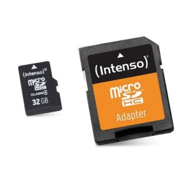 Scheda Di Memoria Micro SD con Adattatore INTENSO 3413480 32 GB Classe 10