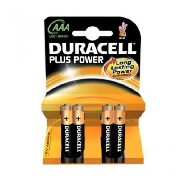 Duracell Alkalna baterija Plus Power LR3 AAA PACK-4