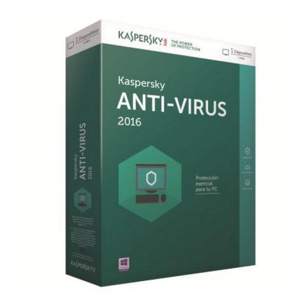 Kaspersky Antivirus 2016 1L/1Leto