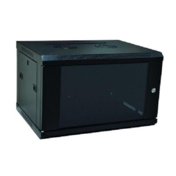Armadio Rack a Muro WP WPN-RWB-06605- 6 U 600 x 500 x 370 mm Nero