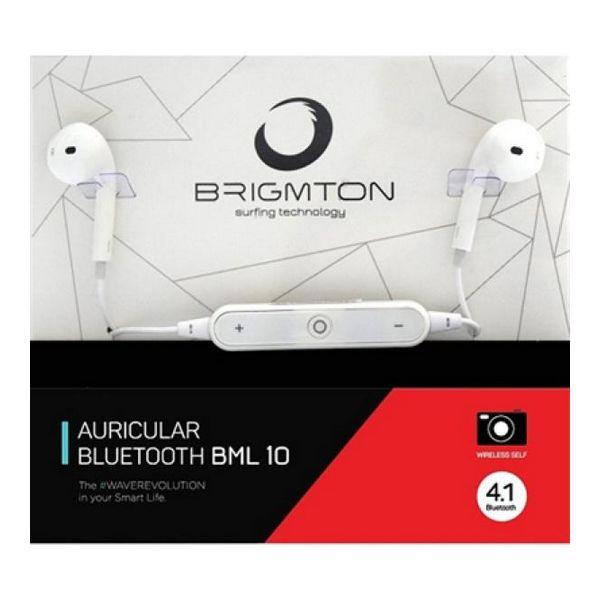 Športna Bluetooth slušalka z mikrofonom BRIGMTON BML-10-B 16Ω Bluetooth 4.1 Bela