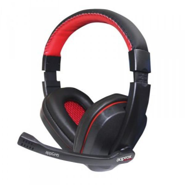 approx Slušalke+mikrofon Gaming appGH5 Črne-rdeče