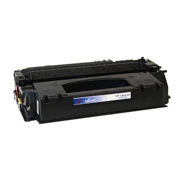 iggual Recklirani Toner HP Q7553X Črni