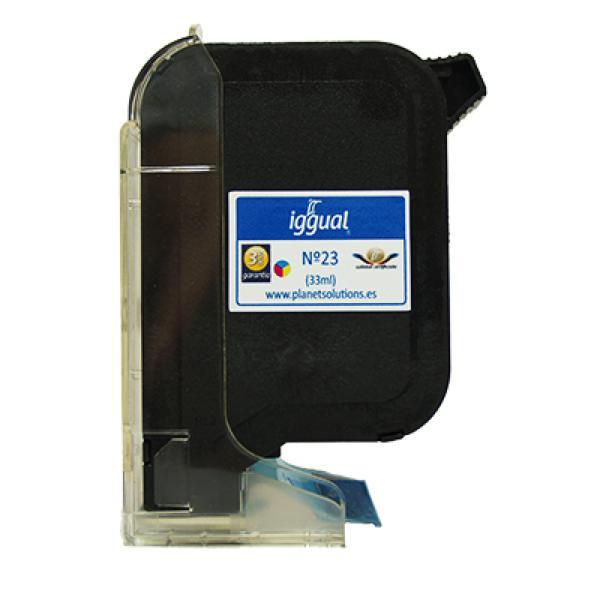 iggual Reciklirana Kartuša HP N? 23 C1823D Barvna