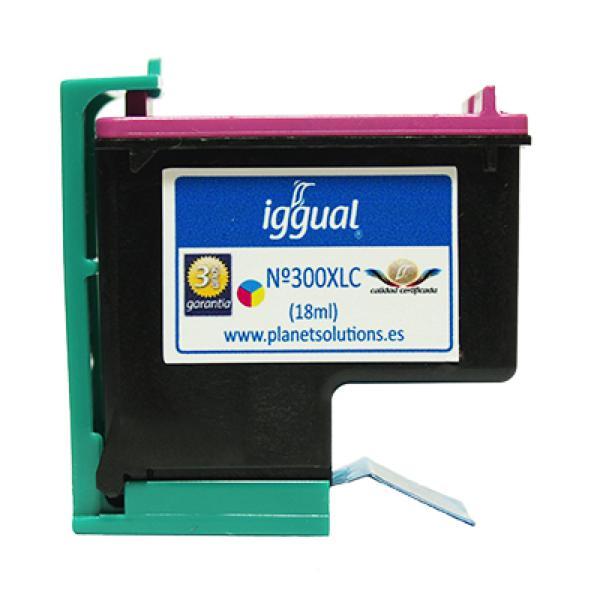 iggual Reciklirana Kartuša HP N? 300XL CC644 Barvna