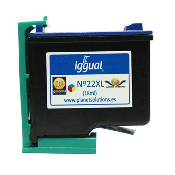 iggual Reciklirana Kartuša HP N? 22XL C9352C Barvna