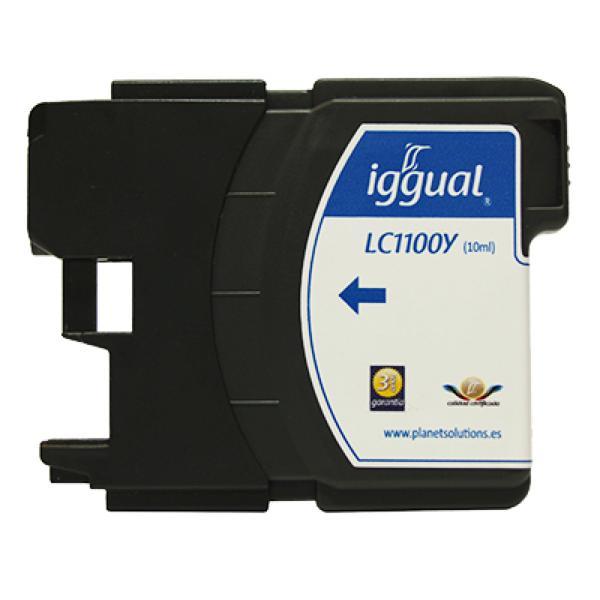 Reciklirana kartuša s črnilom iggual Brother PSILC1100Y Rumena