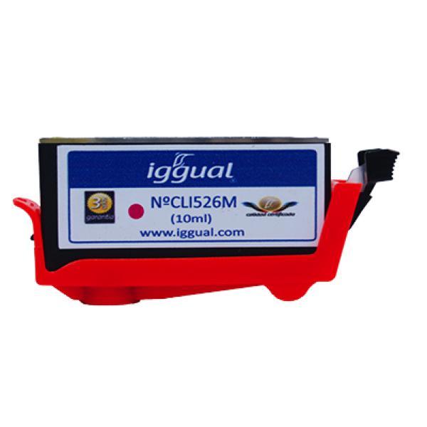 Cartuccia d'Inchiostro Rigenerata iggual Canon PSICLI526M Magenta