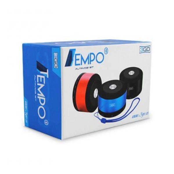 3GO Altoparlanti Tempo Bluetooth 4.0 Micro sd Nero