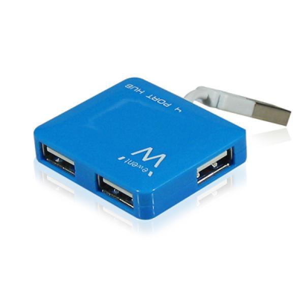 EMINENT-EWENT EW1126 Hub Mini 4 vhodi USB2 modri