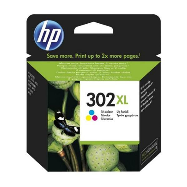 HP 302XL F6U67AE barvna kartuša Officejet 3830