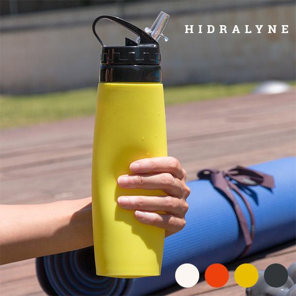 Silikonski Bidon za Športnike Hidralyne - Oranžna