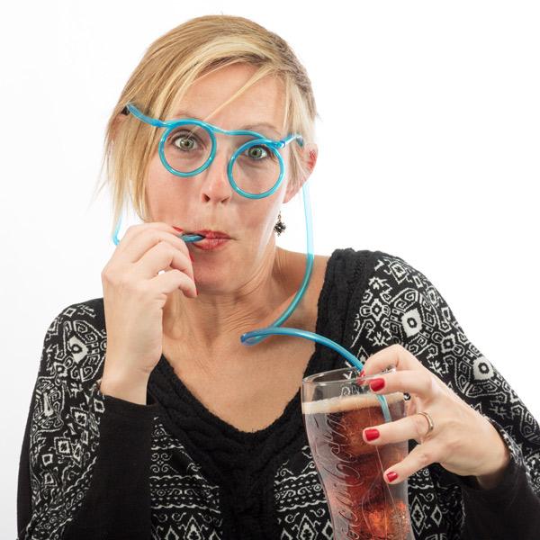 Očala S Cevko Za Pijačo