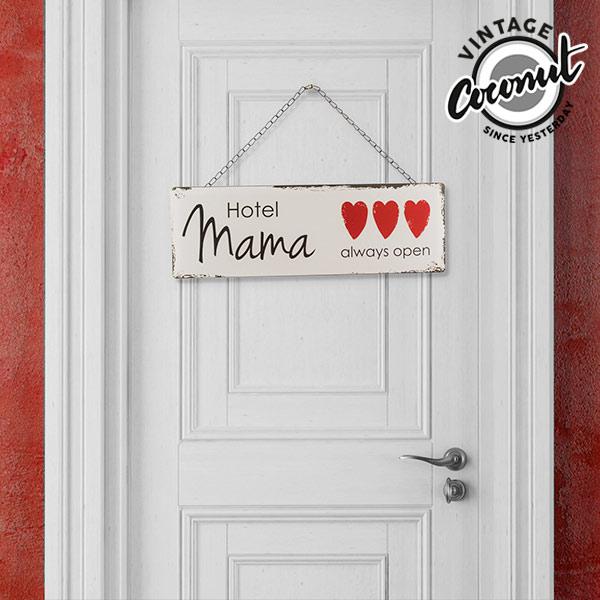 Vintage Kovinski Napis Hotel Mama