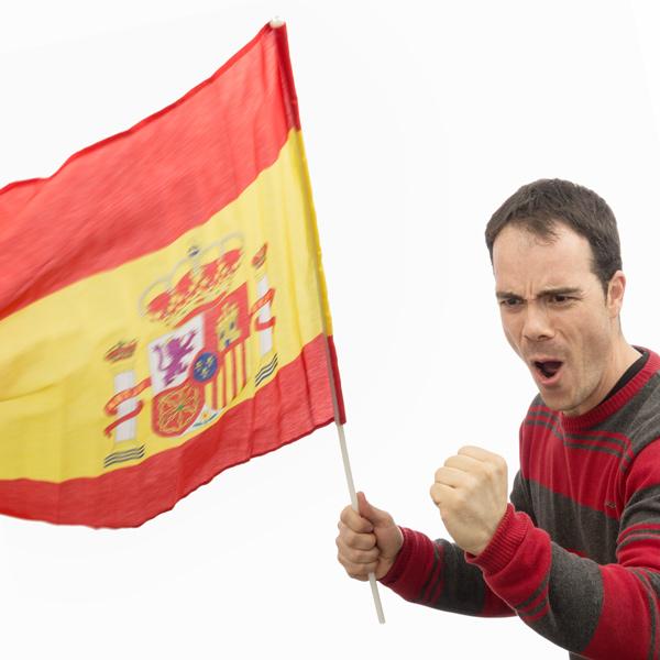 Španska Zastava 60 x 90 cm z Drogom