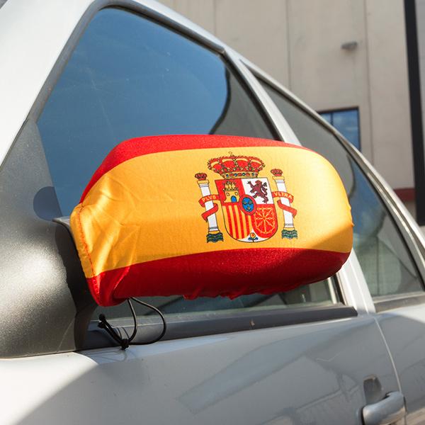 Prevleka za Vzvratno Ogledalo Španska Zastava (2 Kosa)