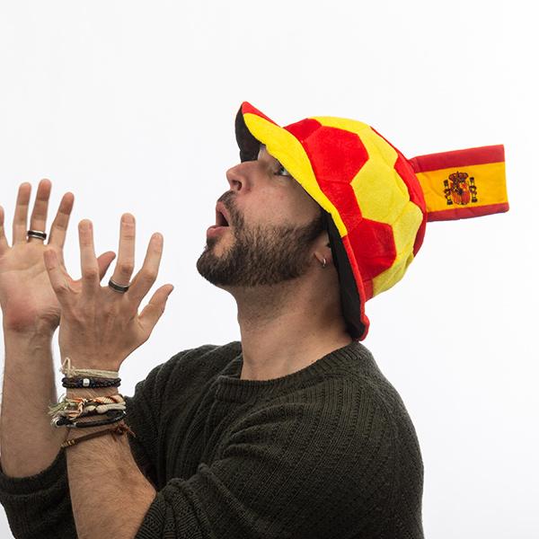 Klobuk Nogometna Žoga s Špansko Zastavo