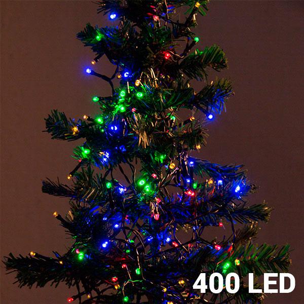 Večbarvne Novoletne Lučke (400 LED)