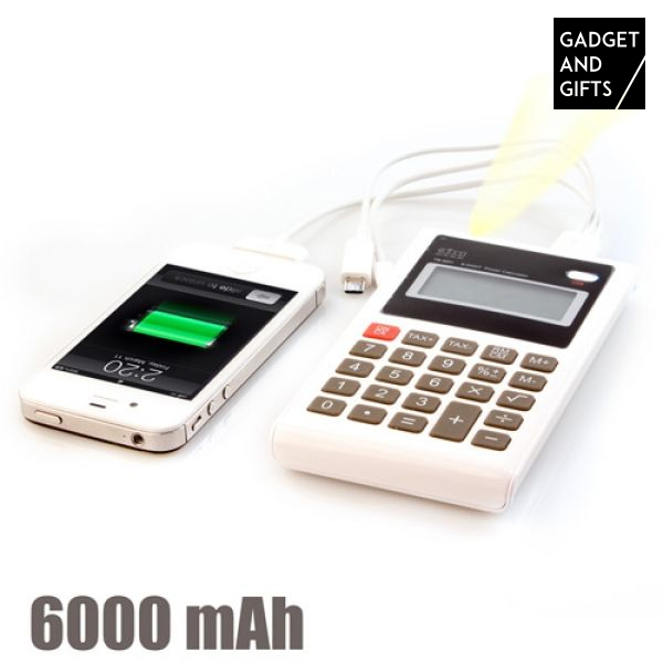 Calcolatrice Caricabatterie Portatile 6000 mAh