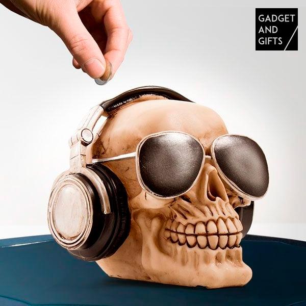 Salvadanaio Skull with Sunglasses
