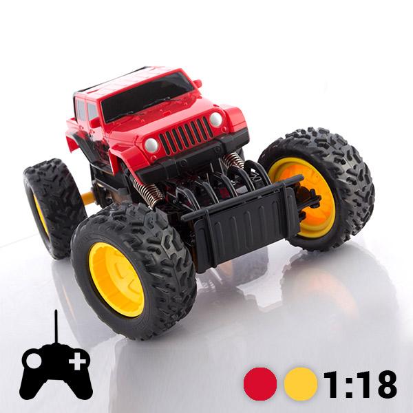 Terenski Avtomobil na Daljinsko Vodenje Monster Truck - Rdeča