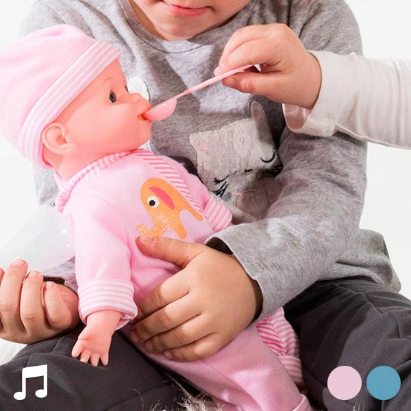 Igrača Dojenček z Zvokom in Dodatnimi Pripomočki - Modra