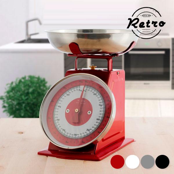 Analogna Kuhinjska Tehtnica s Posodo - Rdeča