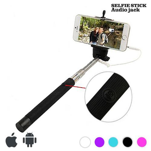 Palica za Selfie s Kablom - Črna