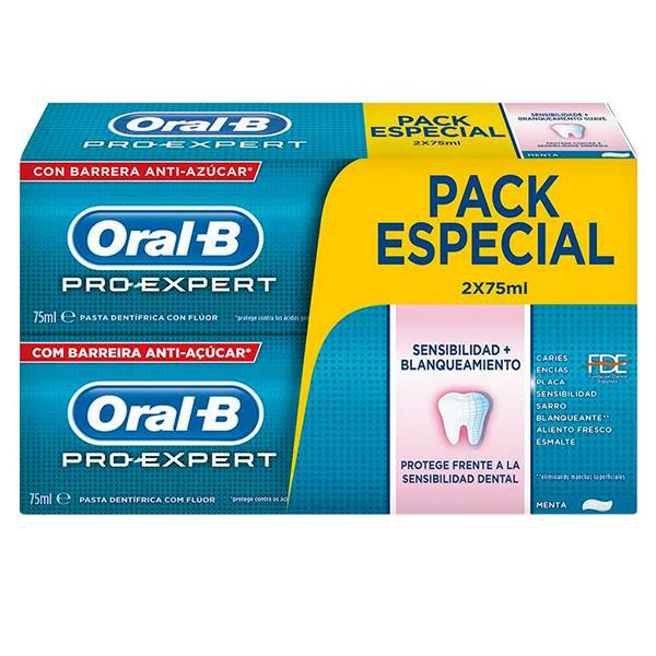 Oral-b - PRO-EXPERT SENSIBILIDAD&BLANQUEANTE SET 2 Pcs.