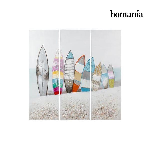 Set de 3 Cuadros Óleo Surf by Homania