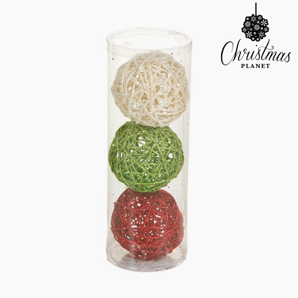 Palle di Natale Rosso Verde Bianco (3 pcs) by Christmas Planet