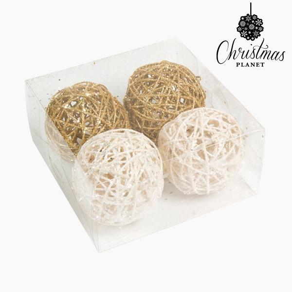 Palle di Natale Bianco Oro (4 pcs) by Christmas Planet