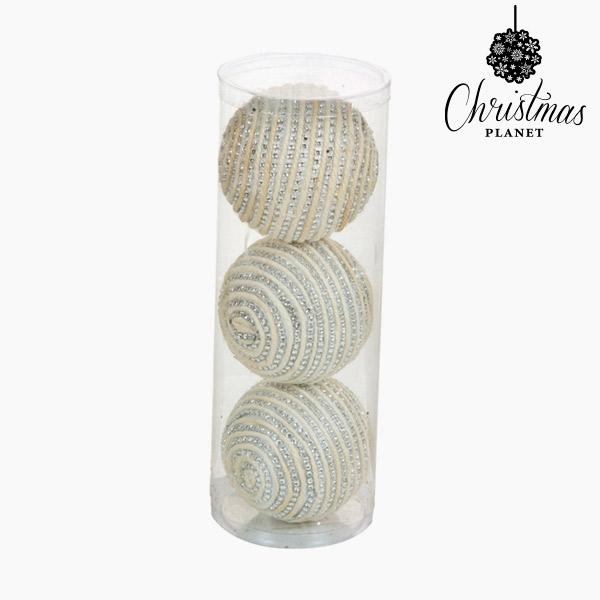 Palle di Natale Bianco Argento (3 pcs) by Christmas Planet