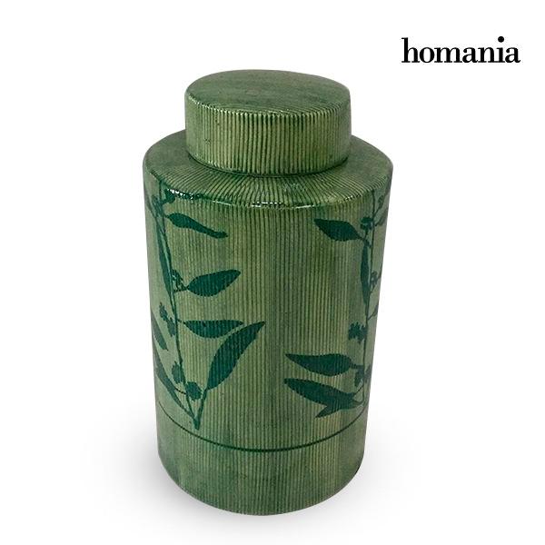 Vaso Gres Verde (11 x 11 x 20 cm) by Homania