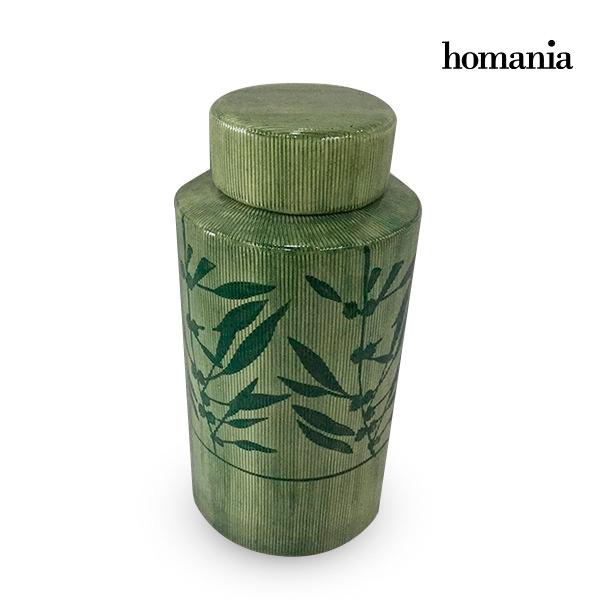 Vaso Gres Verde (13 x 13 x 25 cm) by Homania