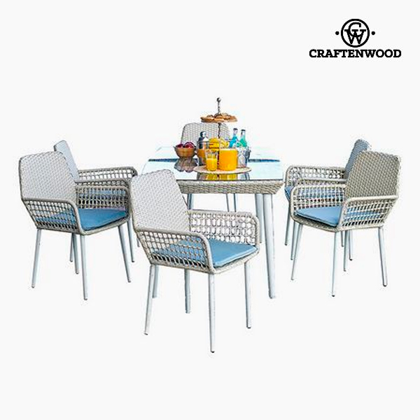Tavolo con 6 sedie (7 pcs) by Craftenwood
