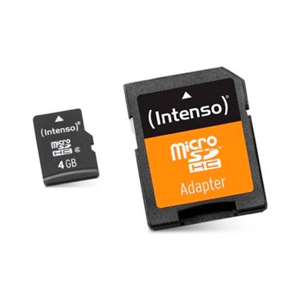 Scheda Di Memoria Micro SD con Adattatore INTENSO 3413450 4 GB Classe 10