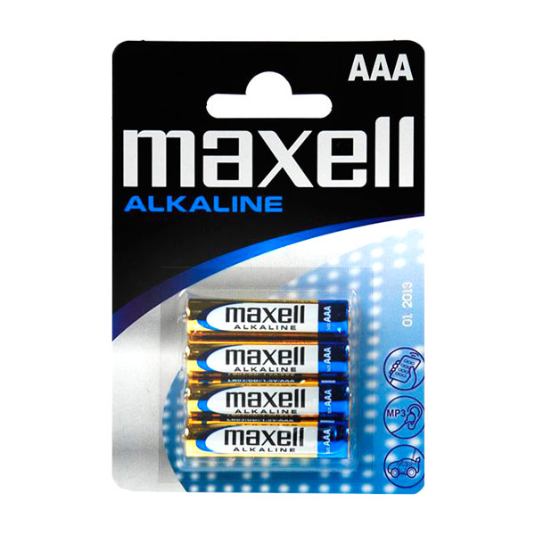 Maxell alkalna baterija 1.5V Tip AAA Paket 4