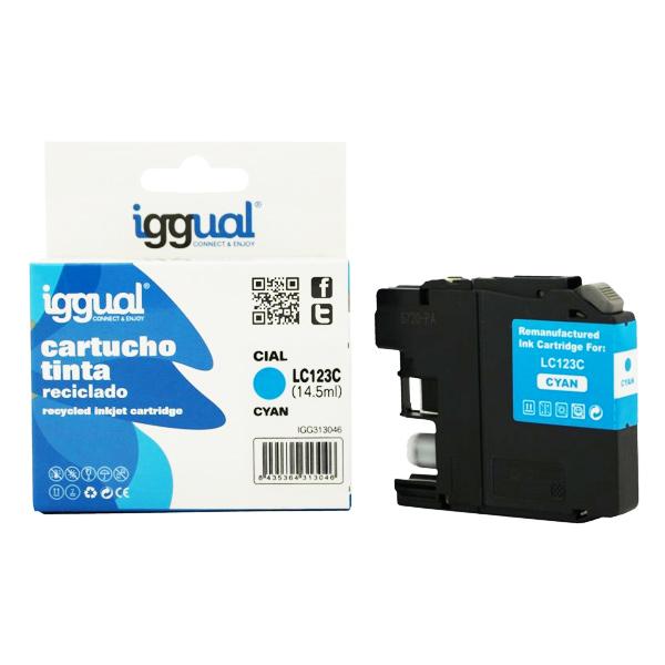 Reciklirana kartuša s črnilom iggual Brother IGG313046 Cian